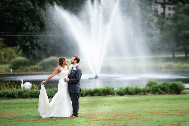 Katie and Sean - Bridal Portraits (look at the Swan that swam by at the perfect time!!!) - Location, Turf Valley Resort  > Bridal Shops- Betsy Robinson Bridal ,, Rings & Jewelry- Smyth Jewelers ,, Hair- Baltimore Bridal Hair, LLC (Jamie) Makeup- Beauty in a Box (Ashley)