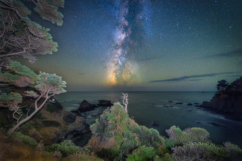 Serenisea Cove & Milky Way, Gualala, California