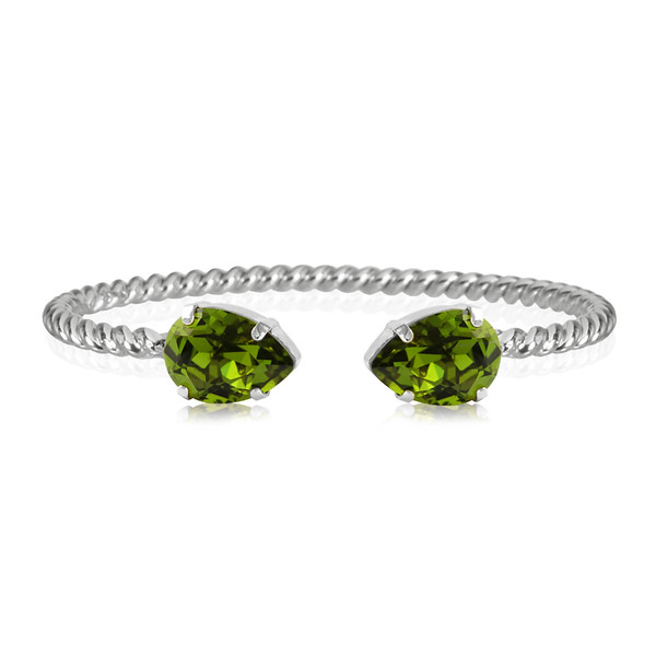 Mini Drop Bracelet / Olivine Rhodium