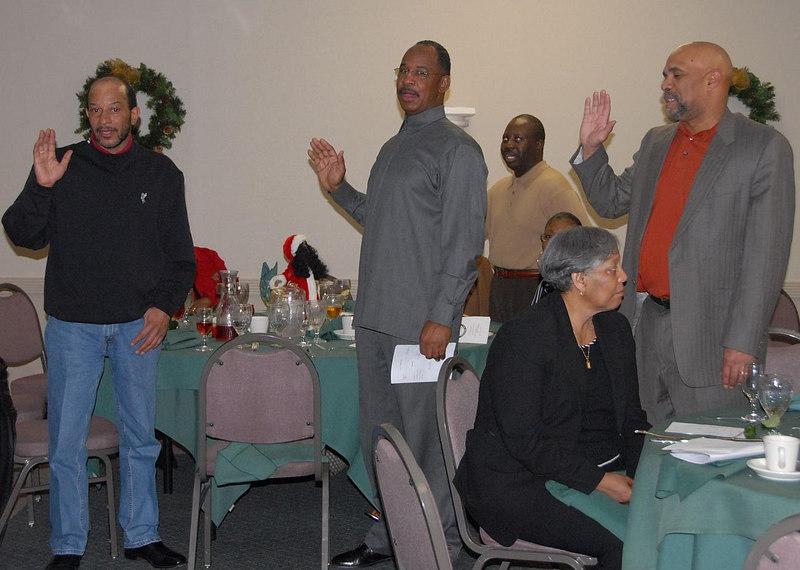 Board Members @ Large: Chris Burden, George Cooper, Richard Lewis, W.L Magnus, Harold McDonald, Leroy Richardson, Chuck Taylor and Dr C Tollett, Sr.