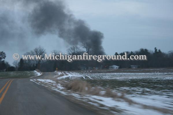 12/17/09 - Mason house fire, 927 Rolfe Rd