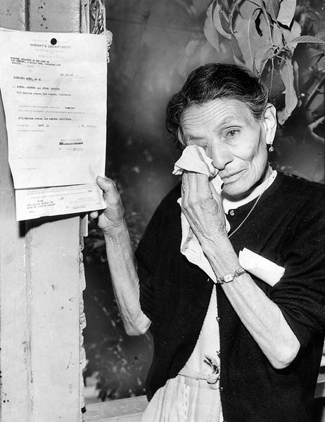 1959, Grandma with Eviction Notice