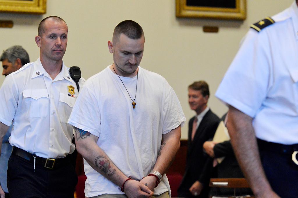 . Adam Lee Hall exits Berkshire Superior Court Wed Sept 12, 2012 (GARVER)