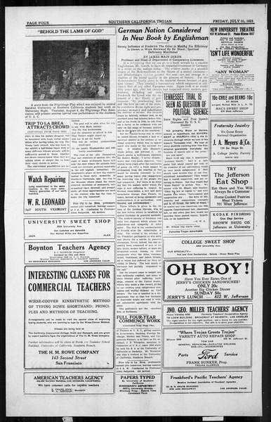 The Southern California Trojan, Vol. 4, No. 10, July 31, 1925
