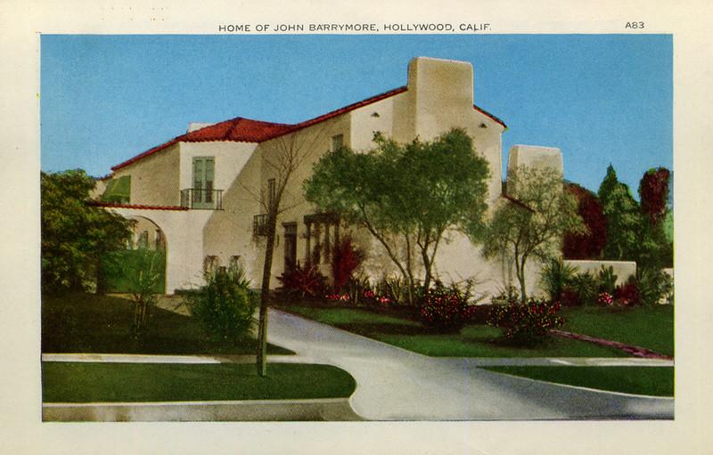 Home of John Barrymore