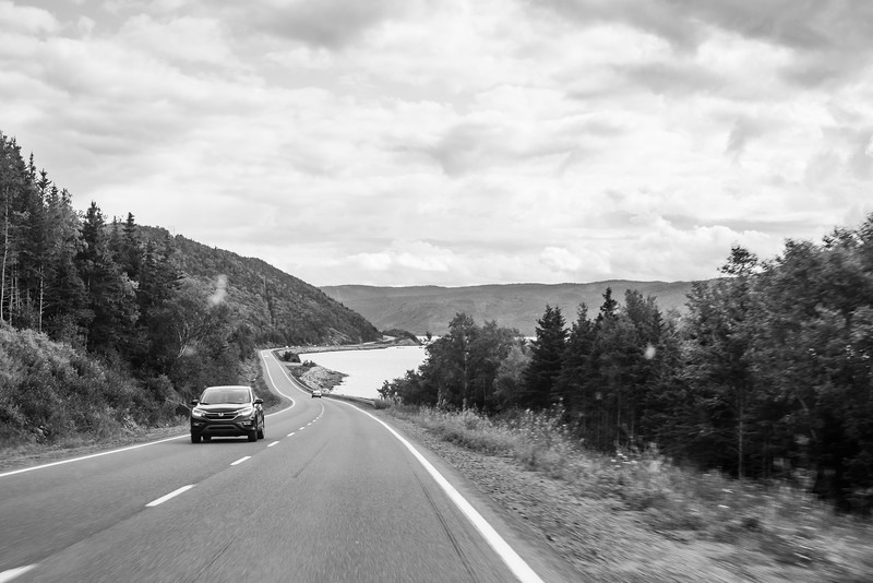 leaving Gros Morne National Park