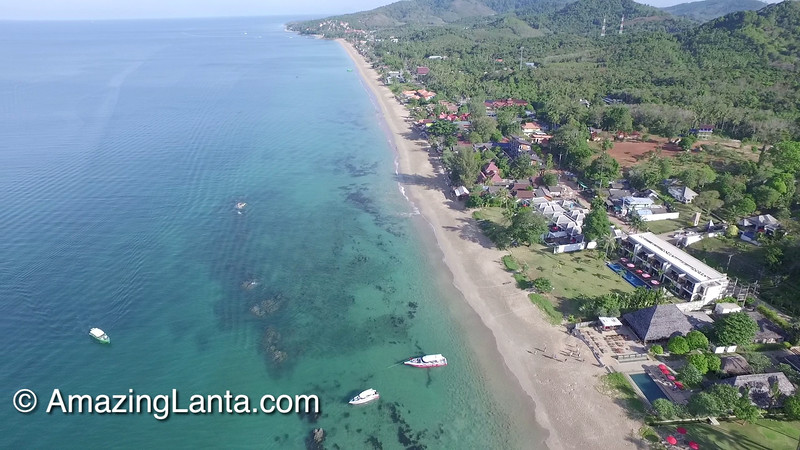 Khlong Nin Beach Front Villa Aerial View