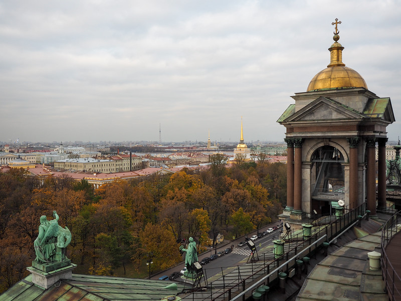 View from Saint Isaac's Cathedral Colonnade
