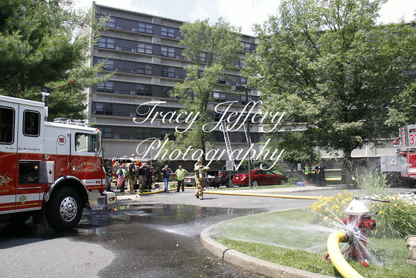 Westwood Fire Dept- 100 Madison Ave Apt Fire 7-1-14