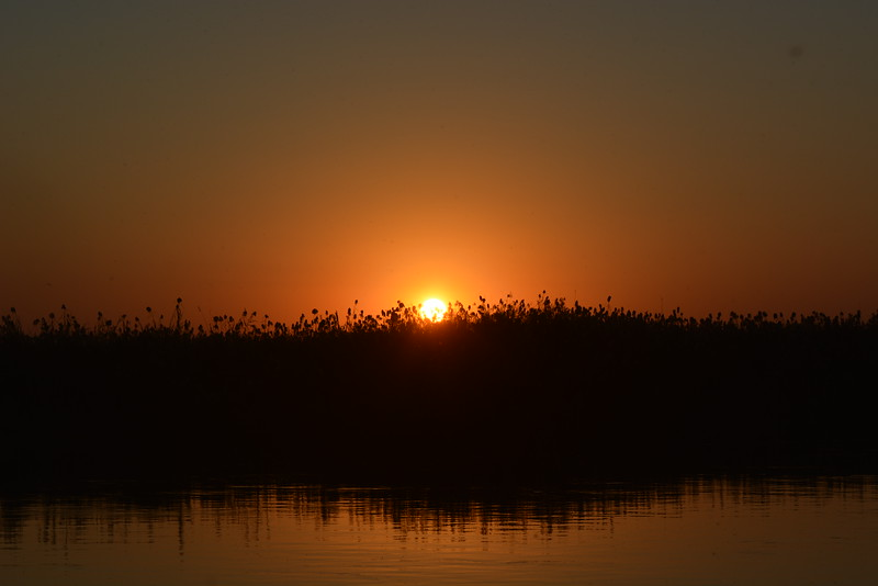 Sunset, Okavango River Near Shakawe, Botswana