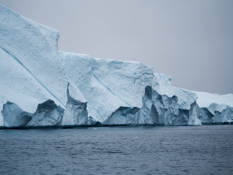 Icebergs on the Ilulissat Icefjord in Greenland