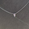 0.48ct 18kt White Gold Rose Cut Bezel Pendant 9