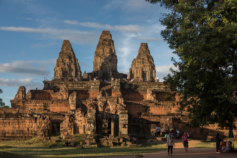 Tourists at Pre Rup temple, Krong Siem Reap, Siem Reap, Cambodia