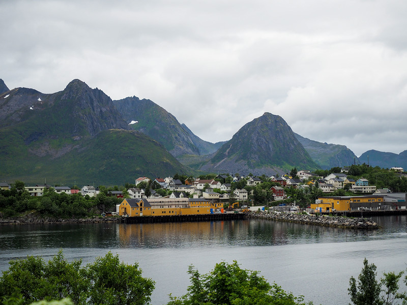 Fishing town of Husøy in Norway