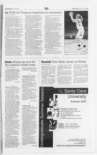 Daily Trojan, Vol. 139, No. 48, March 31, 2000
