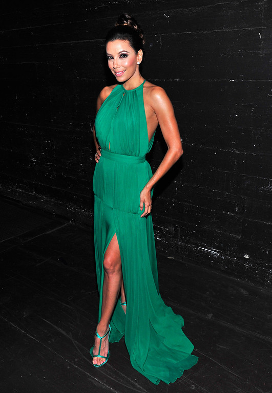. PASADENA, CA - SEPTEMBER 27:  Host Eva Longoria poses backstage during the 2013 NCLR ALMA Awards at Pasadena Civic Auditorium on September 27, 2013 in Pasadena, California.  (Photo by Jerod Harris/Getty Images for NCLR)