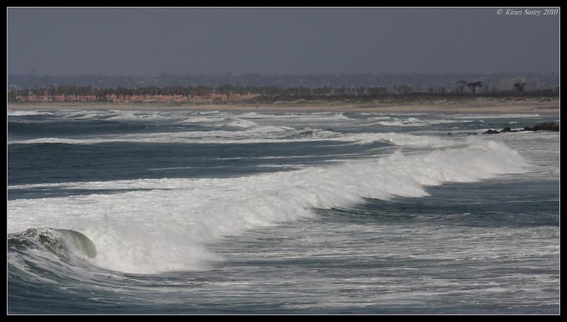 Waves at the beach, Imperial Beach Pier, San Diego County, California, April 2010