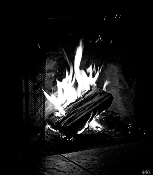morning fire Bw