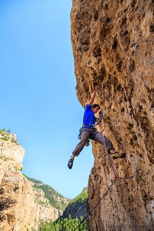 Climbing in Ten Sleep, WY