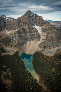Twin Lakes and Storm Mountain, Banff National Park, Alberta, Canada.