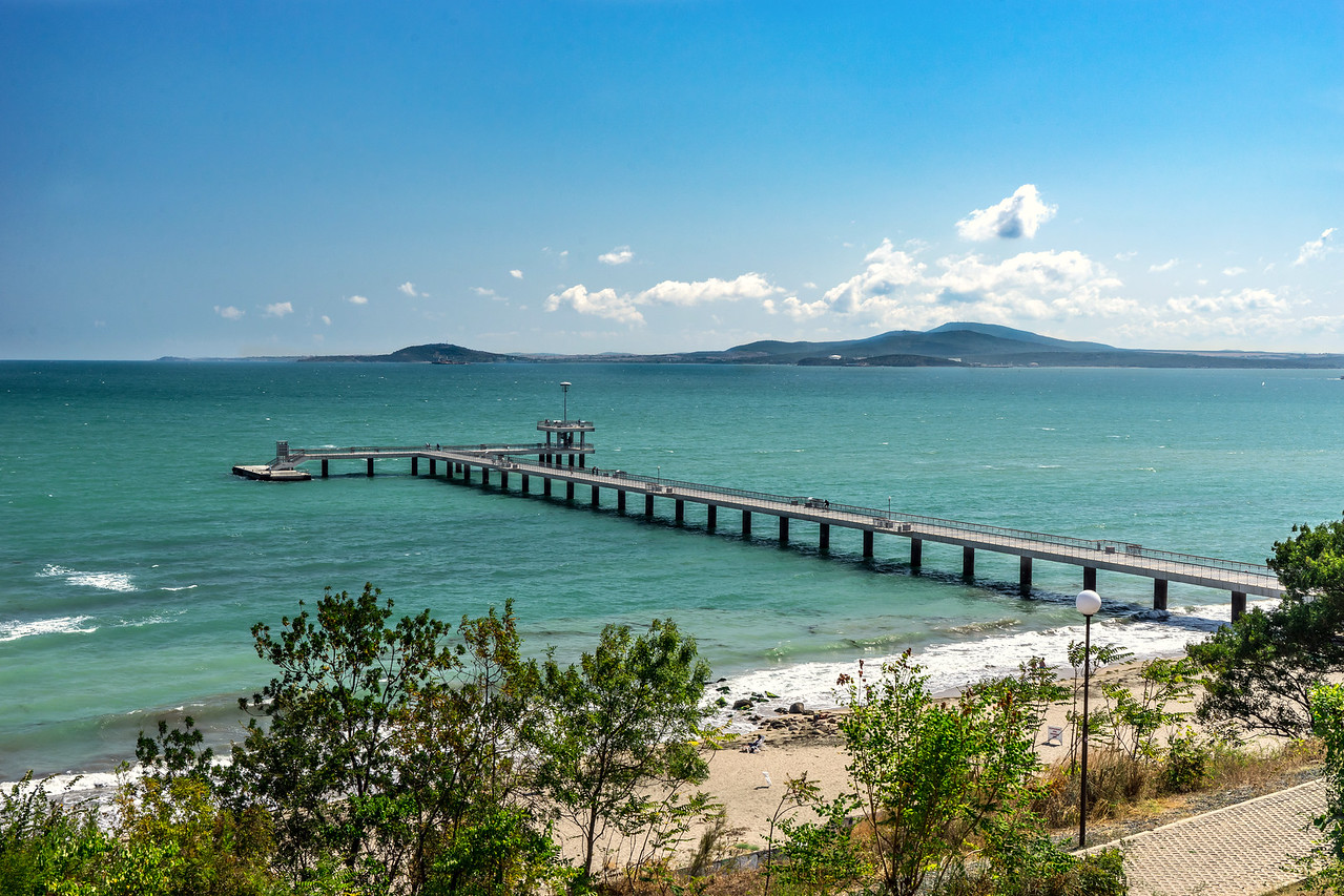 Burgas Beach Walking Pier
