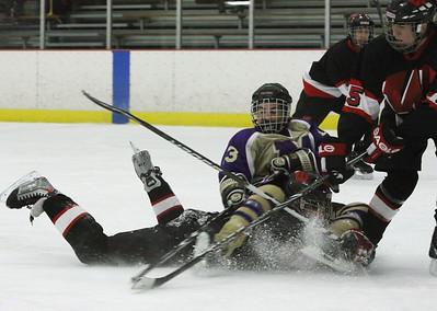 Falcon Ice Hockey tied Woodbridge Barons, 4-4 , Feb. 3, 2012 in Wall NJ