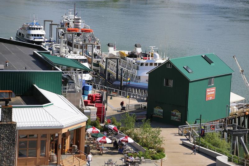 Mist Cove docked in Juneau.