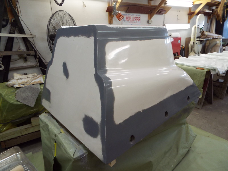 Engine box waxed and buffed. Next step laying up the new box.