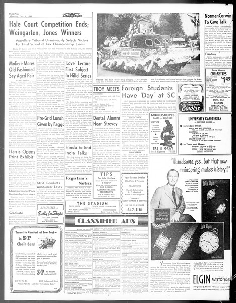Daily Trojan, Vol. 40, No. 58, December 06, 1948
