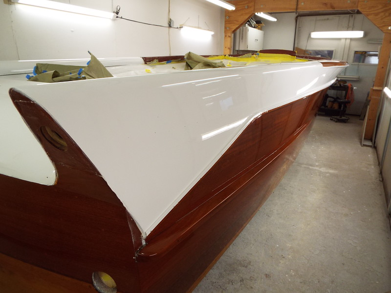 Rear starboard view of completed finish.