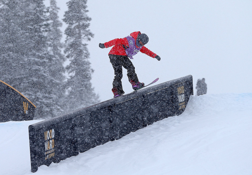 . Stefi Luxton of New Zealand competes during qualifying for the women\'s FIS Snowboard Slopestyle World Cup at U.S. Snowboarding and Freeskiing Grand Prix on December 20, 2013 in Copper Mountain, Colorado.  (Photo by Mike Ehrmann/Getty Images)