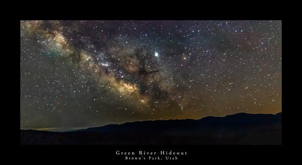 Milky Way Over Brown's Park, Utah