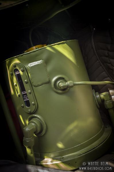 Oil Tank on Plane    Photography by Wayne Heim