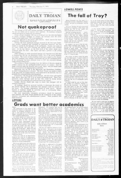 Daily Trojan, Vol. 62, No. 67, February 11, 1971
