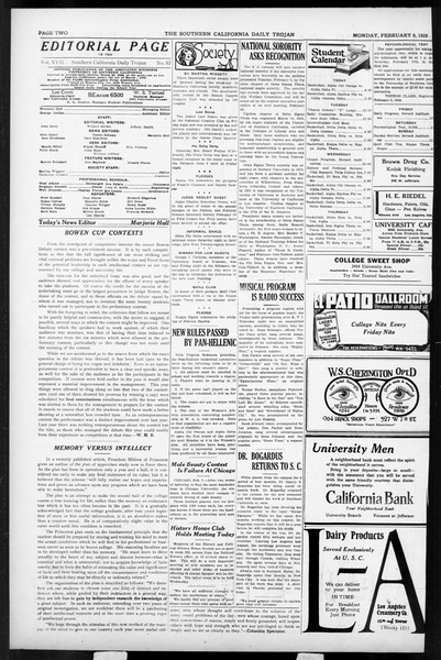 Daily Trojan, Vol. 17, No. 83, February 08, 1926