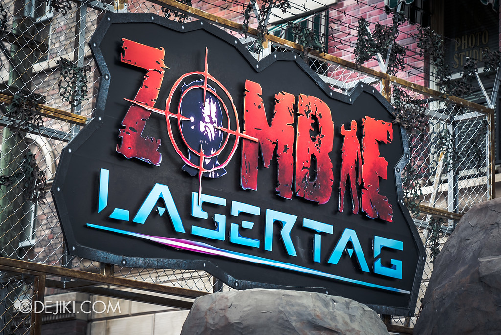 Halloween Horror Nights 7 Preview Construction Update Before Dark 3 - Zombie Laser Tag marquee
