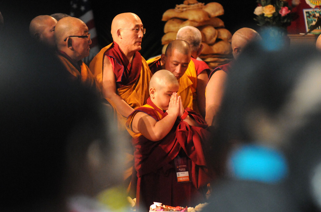 . Taksham Tulku, 8, center, a monk from  Columbia Heights. (Pioneer Press: Sherri LaRose-Chiglo)