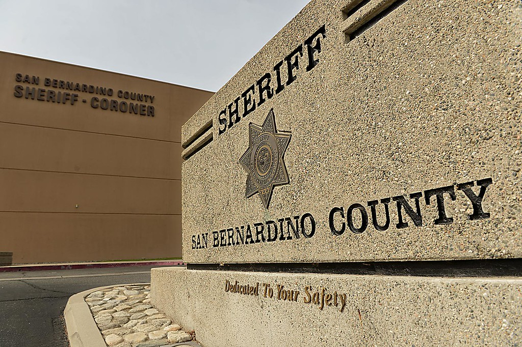 . San Bernardino County Sheriff John McMahon speaks to the media Friday April 10, 2015 about deputies involved in the apparent beating, tasing and arrest of Francis Jared Pusok while being taken into custody Thursday. Pusok attempted to elude authorities in the California desert on a stolen horse. (Staff photo by Rick Sforza/The Sun)