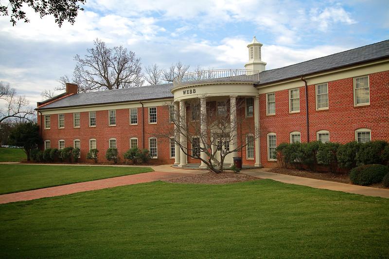 Webb Administration Building, January 2012.