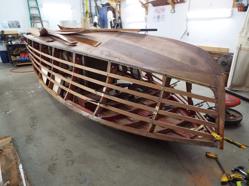 Front port view of the new side battens fit.