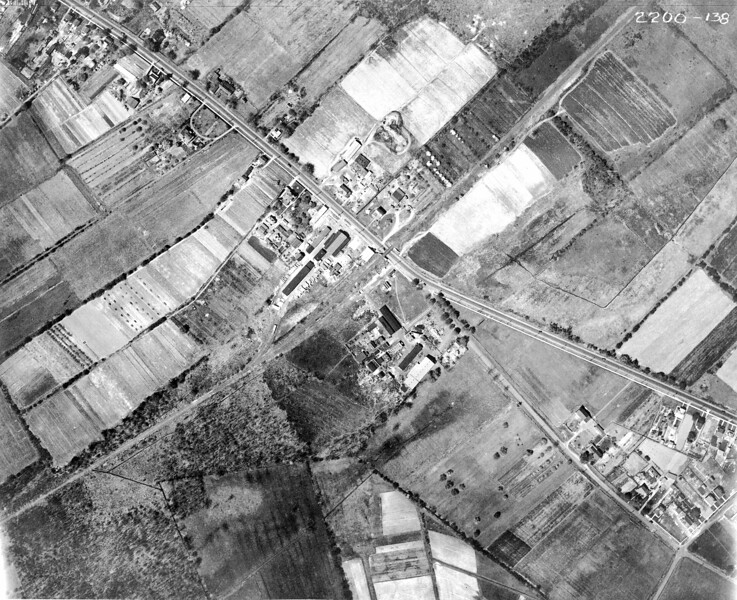 1923 Aerial showing Morris Ave., Elmwood Ave, future location of UHS