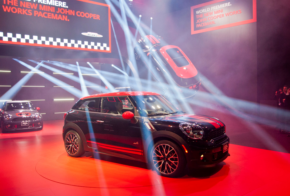 . The new Mini John Cooper Works Paceman is unveiled at the North American International Auto Show, Monday, Jan. 14, 2013, in Detroit, Mich. (AP Photo/Tony Ding)