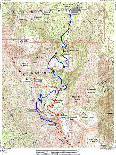 2012-8-10 ––– Up at 4:00am. Load the truck. Drive to American Fork Canyon and pick up friends at 5:00am. Drive to Timpooneke trailhead for Timp hike around 5:30am. That is the plan. This map shows the 16 mile round trip route we will take to get there with about a 5,000 foot climb. Should be fun. This will be #11 for me.