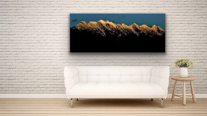 'Steeples Sun Set' Canvas Wrap or Float Mount Metal Print