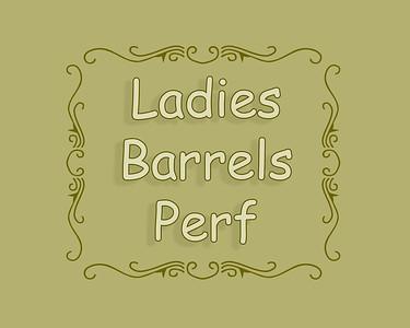 Barrel Racing Ladies Perf