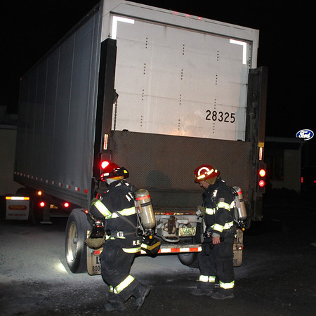Tractor Trailer Smoke Response, Behind Police Station, Tamaqua (9-21-2011)