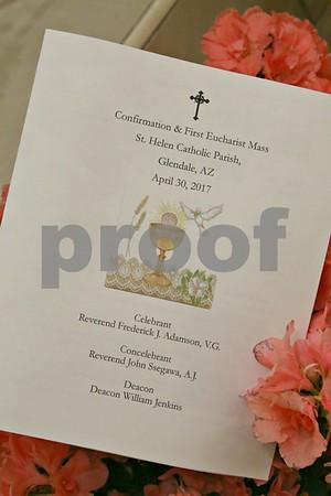 St. Helen's 1st Communion/Confirmation April 30, 2017