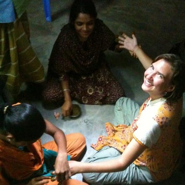 Audrey & village mehndi -- Nattore, Bangladesh