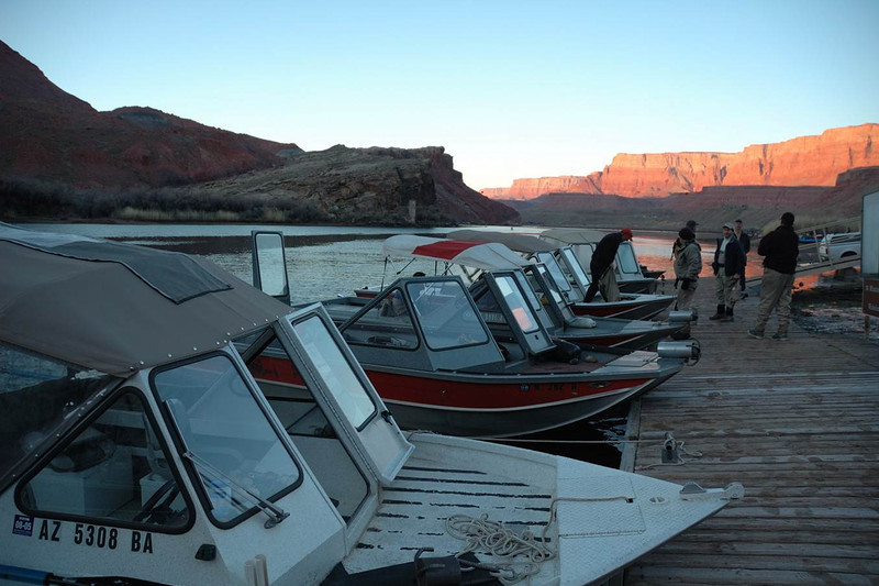 Lees Ferry Anglers guide boats getting ready for customers.jpg