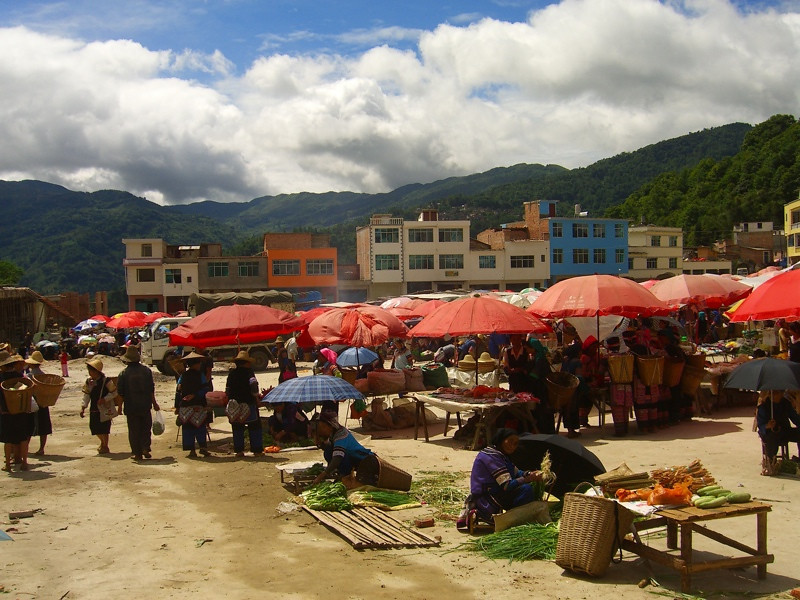 Yuanyang Market Day - Yunnan, China